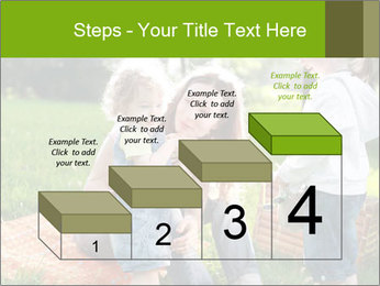Mother With Kids In Park PowerPoint Templates - Slide 64