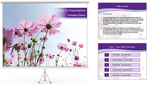 Pink Flower Blossom PowerPoint Template