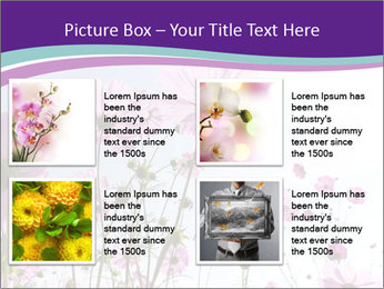 Pink Flower Blossom PowerPoint Template - Slide 14