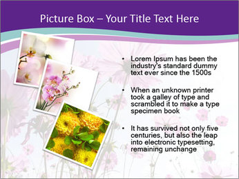 Pink Flower Blossom PowerPoint Template - Slide 17