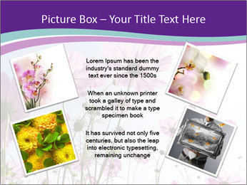 Pink Flower Blossom PowerPoint Template - Slide 24