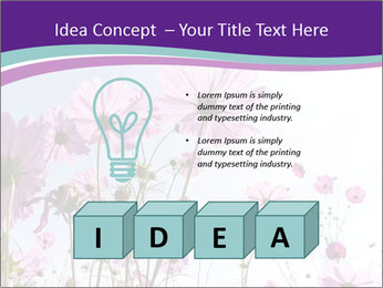 Pink Flower Blossom PowerPoint Template - Slide 80