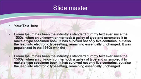 Pink Flower Blossom PowerPoint Template - Slide 2