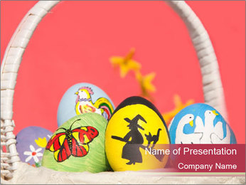 Easter Eggs Decor PowerPoint Template