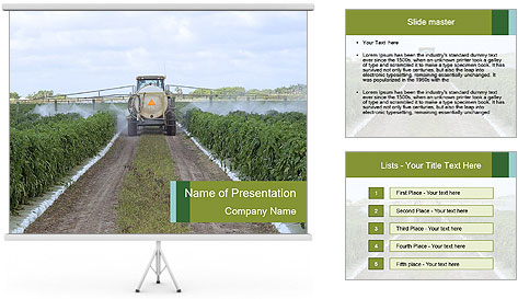 Insecticide Machinery PowerPoint Template