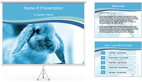 Blue Rabbit PowerPoint Template