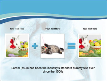 Blue Rabbit PowerPoint Template - Slide 22