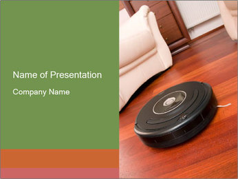 Robot Vacuum Cleaner PowerPoint Template - Slide 1