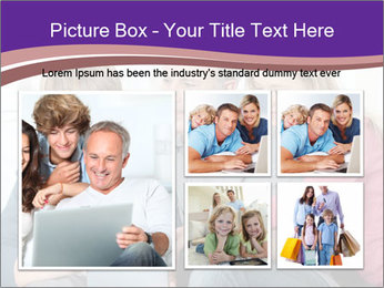 All Family Watching At Tablet Screen PowerPoint Template - Slide 19