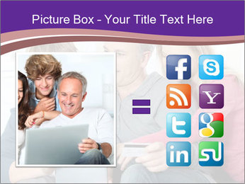 All Family Watching At Tablet Screen PowerPoint Template - Slide 21