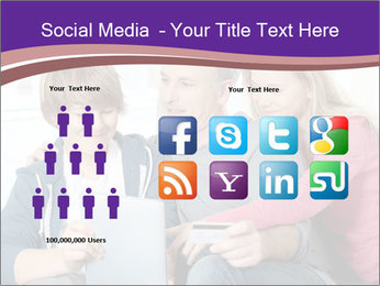All Family Watching At Tablet Screen PowerPoint Template - Slide 5