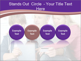 All Family Watching At Tablet Screen PowerPoint Template - Slide 76