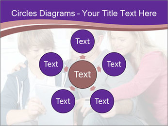 All Family Watching At Tablet Screen PowerPoint Template - Slide 78