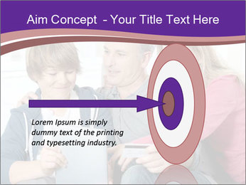 All Family Watching At Tablet Screen PowerPoint Template - Slide 83