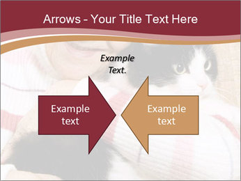 Grandmama Hugs Cat PowerPoint Template - Slide 90