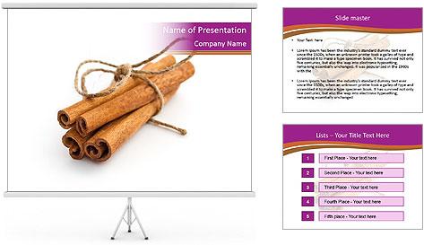 Cinnamon Spice PowerPoint Template