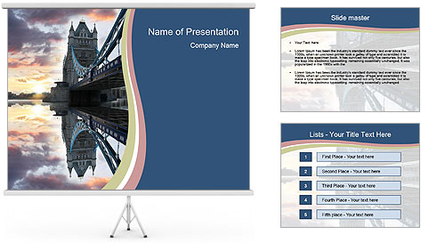 Themes River During Sunset PowerPoint Template
