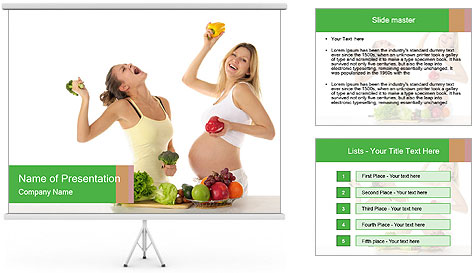 Diet During Pregnancy PowerPoint Template