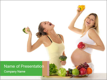 Diet During Pregnancy PowerPoint Template - Slide 1