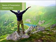 Man With Free Spirit PowerPoint Templates