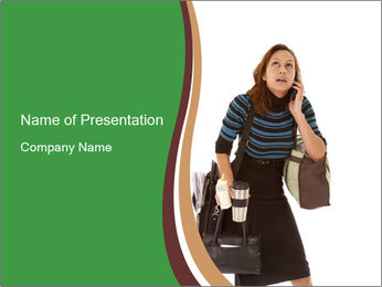 Stressed Businesswoman PowerPoint Template