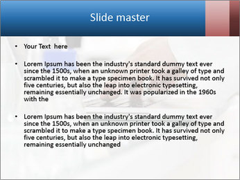 Man Typing On White Laptop PowerPoint Template