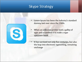 Man Typing On White Laptop PowerPoint Templates - Slide 8