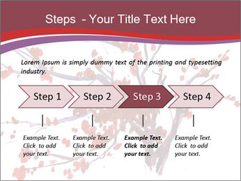 Japanese Cherry Tree PowerPoint Template - Slide 4