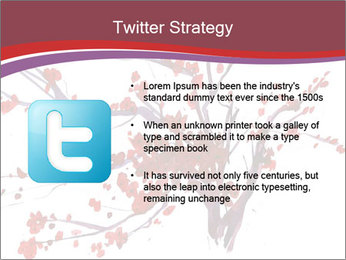 Japanese Cherry Tree PowerPoint Template - Slide 9