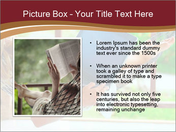 Woman In Hammock With Laptop PowerPoint Template - Slide 13