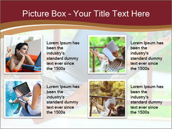 Woman In Hammock With Laptop PowerPoint Template - Slide 14