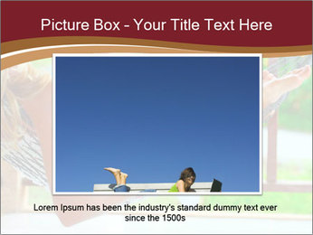 Woman In Hammock With Laptop PowerPoint Template - Slide 15