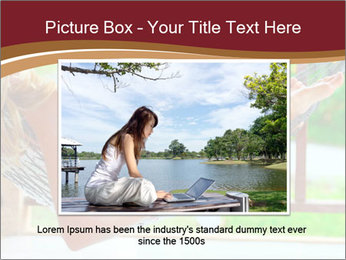 Woman In Hammock With Laptop PowerPoint Template - Slide 16