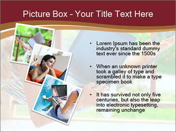 Woman In Hammock With Laptop PowerPoint Template - Slide 17