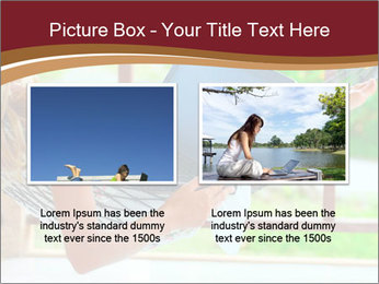 Woman In Hammock With Laptop PowerPoint Template - Slide 18