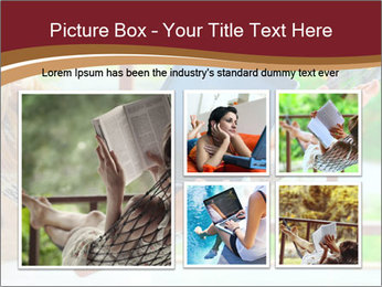 Woman In Hammock With Laptop PowerPoint Template - Slide 19