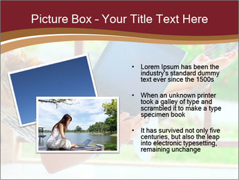 Woman In Hammock With Laptop PowerPoint Template - Slide 20
