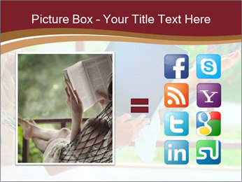 Woman In Hammock With Laptop PowerPoint Template - Slide 21