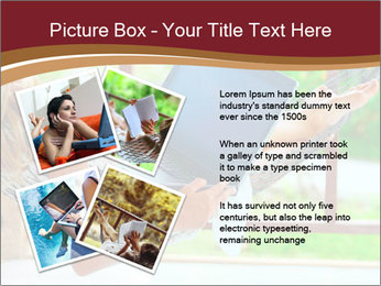 Woman In Hammock With Laptop PowerPoint Template - Slide 23