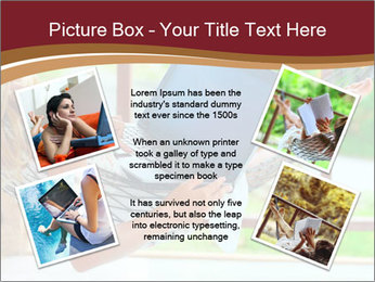 Woman In Hammock With Laptop PowerPoint Template - Slide 24