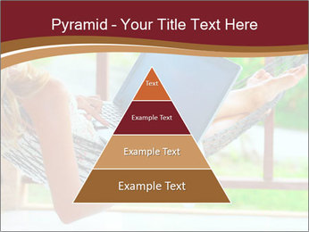 Woman In Hammock With Laptop PowerPoint Templates - Slide 30