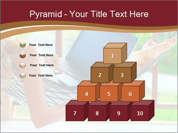 Woman In Hammock With Laptop PowerPoint Templates - Slide 31