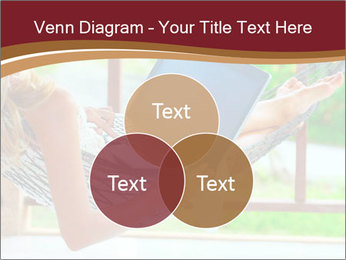 Woman In Hammock With Laptop PowerPoint Template - Slide 33