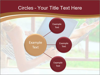 Woman In Hammock With Laptop PowerPoint Templates - Slide 79