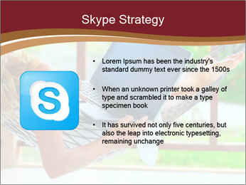 Woman In Hammock With Laptop PowerPoint Templates - Slide 8