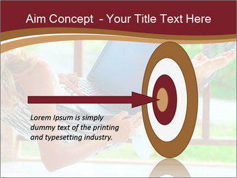 Woman In Hammock With Laptop PowerPoint Template - Slide 83