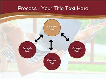 Woman In Hammock With Laptop PowerPoint Templates - Slide 91