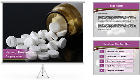 Painkiller Pills PowerPoint Template