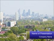 Green City Panorama PowerPoint Template