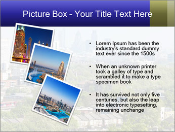 Green City Panorama PowerPoint Template - Slide 17